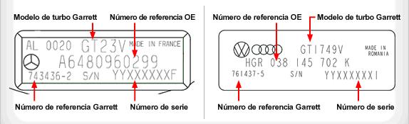 Placa Identificación Garret OEM